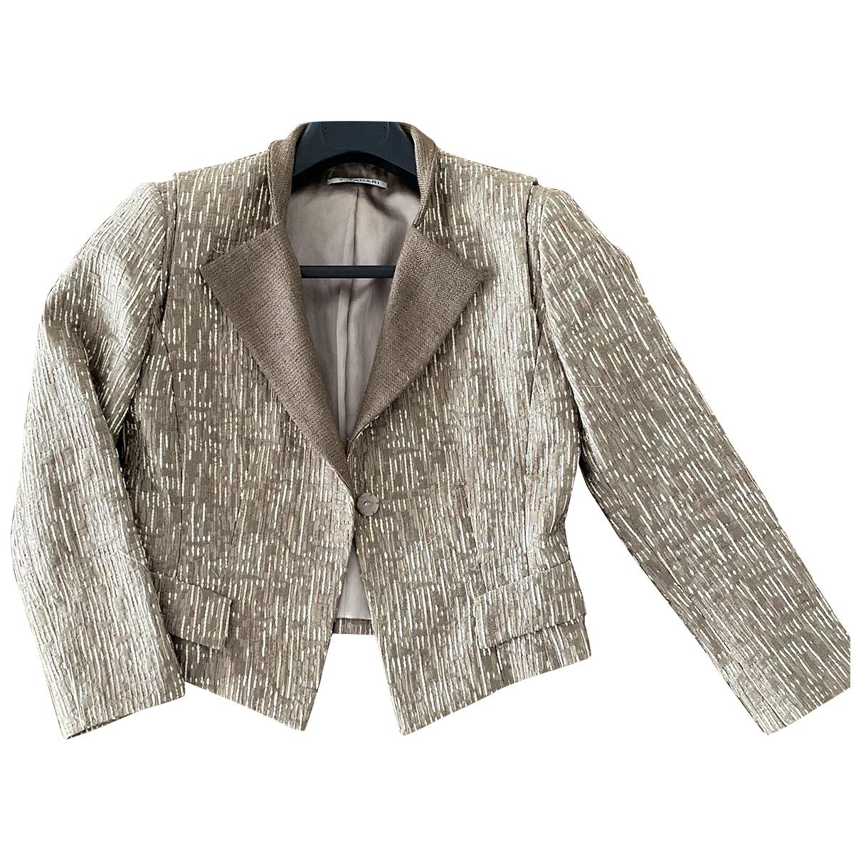 Elie Tahari \N Jacke in  Metallic Tweed