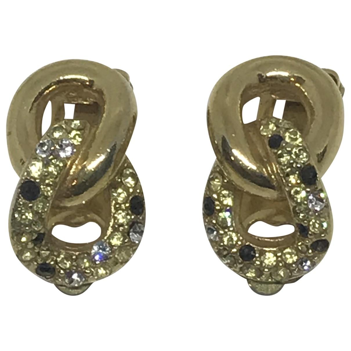 Dior - Boucles doreilles   pour femme en cristal - dore