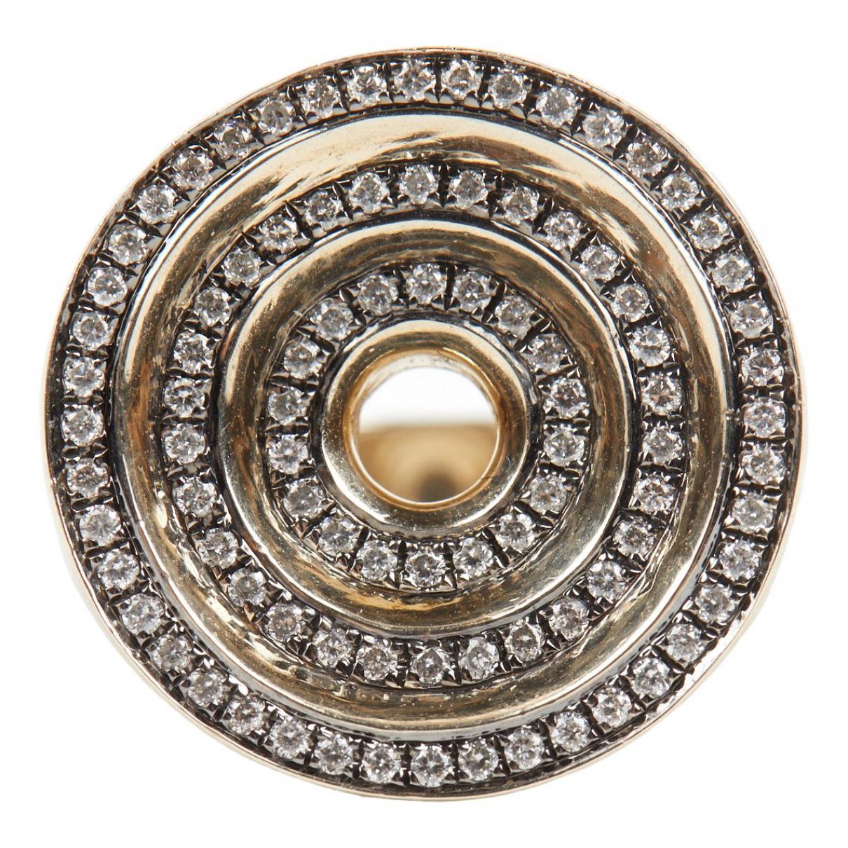 Noor Fares \N Ring in  Grau Gelbgold