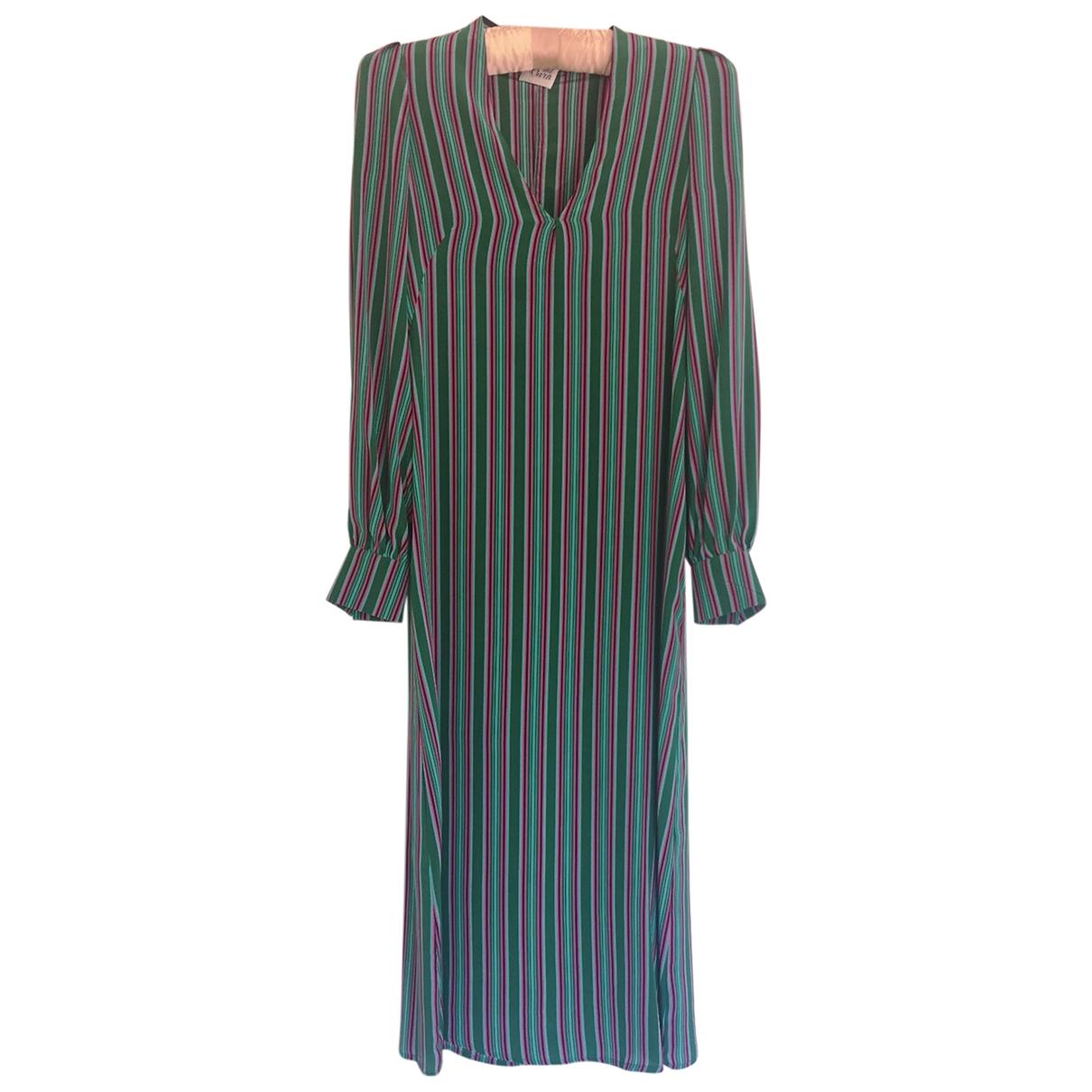Attic And Barn - Robe   pour femme en soie - vert