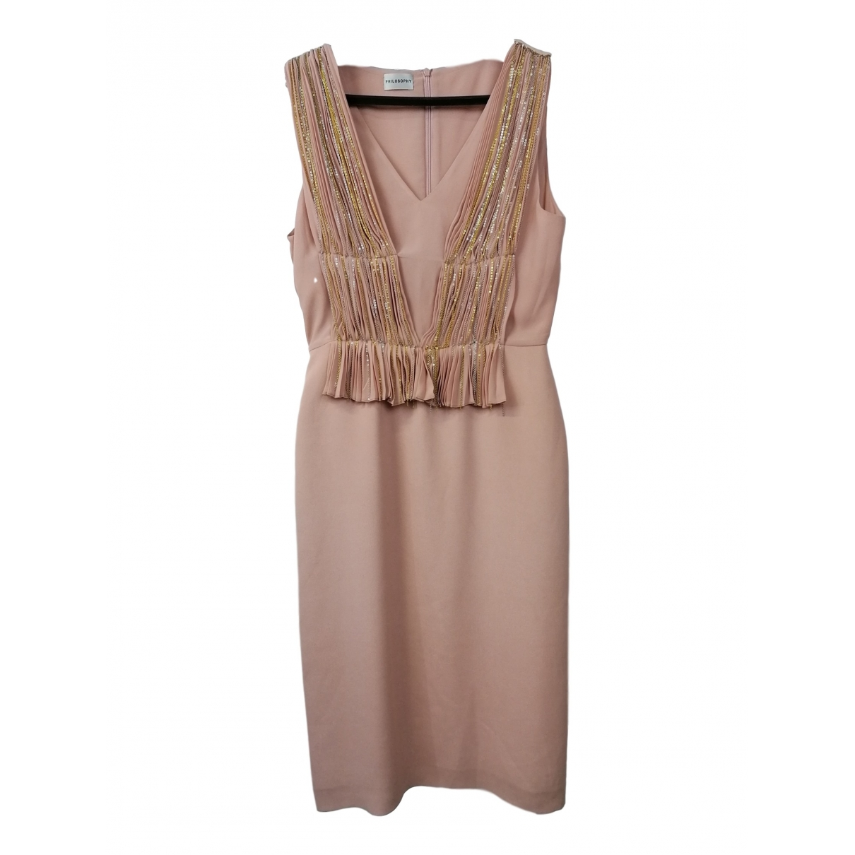 Philosophy Di Alberta Ferretti \N Pink Silk dress for Women 42 IT