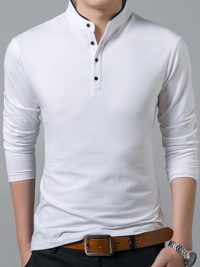 Ericdress Casual Stand Collar Polo Shirt