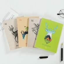 1 Pack Zufaelliges Malbuch mit Hirsch Muster