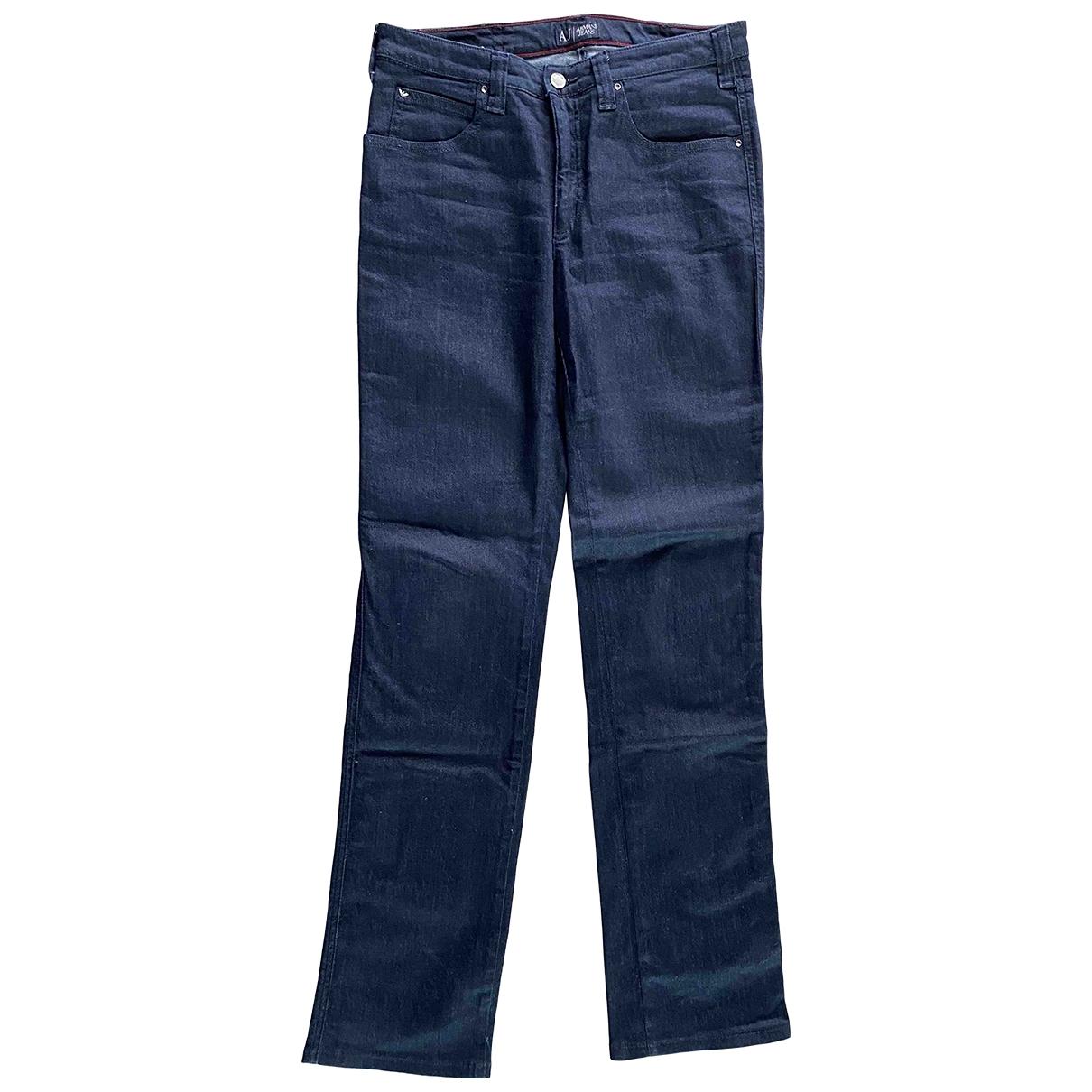 Armani Jeans \N Blue Cotton - elasthane Jeans for Women 42 FR