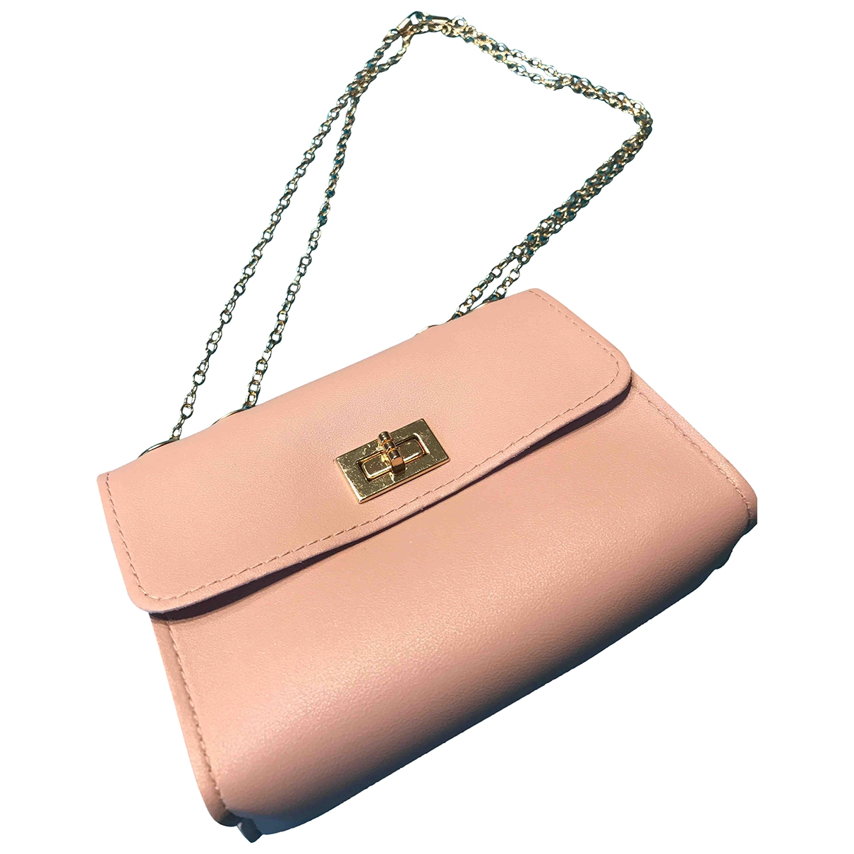 Non Signe / Unsigned \N Handtasche in  Rosa Synthetik
