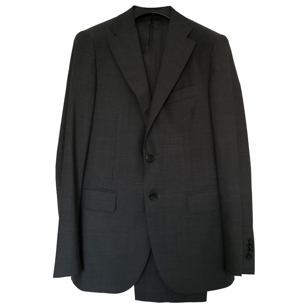 Non Signé / Unsigned N Grey Wool Suits for Men 48 IT