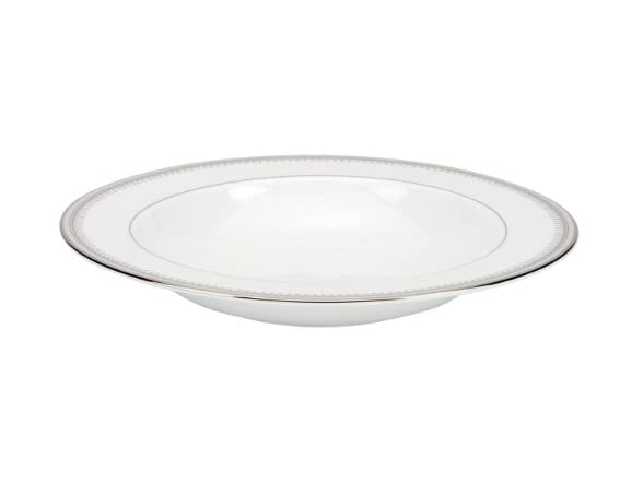 Lenox Belle Haven Rimmed Bowl Platinum