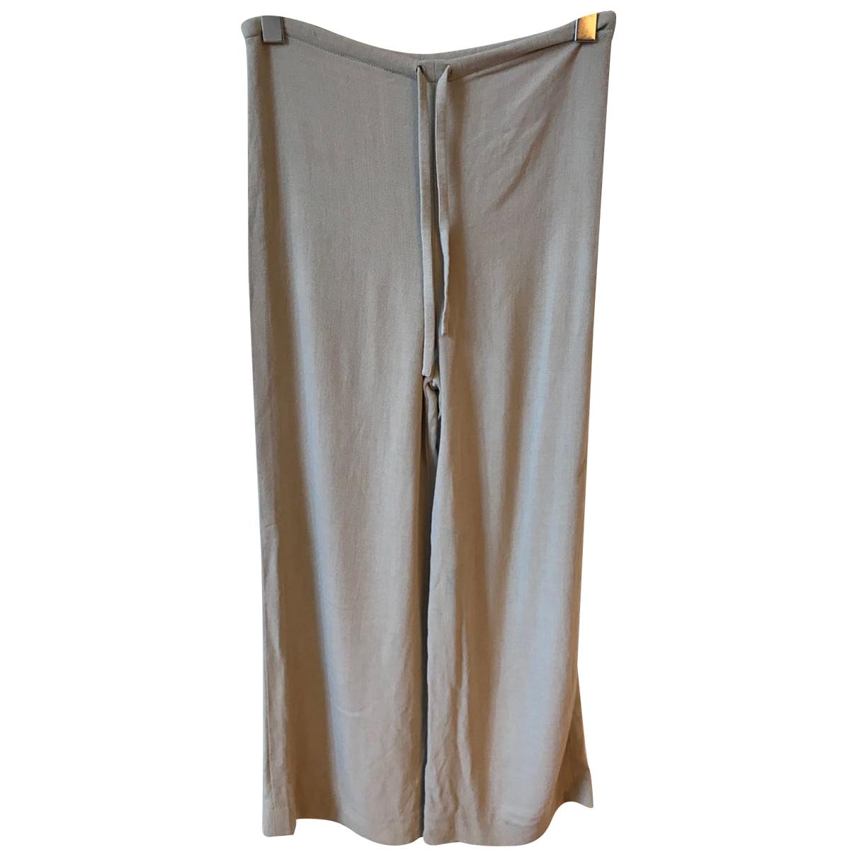 Yves Saint Laurent N Beige Cloth Trousers for Women 36 FR