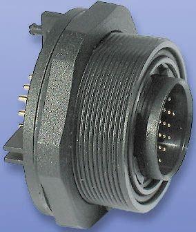 Bulgin Connector, 9 contacts Panel Mount Plug, PCB IP68