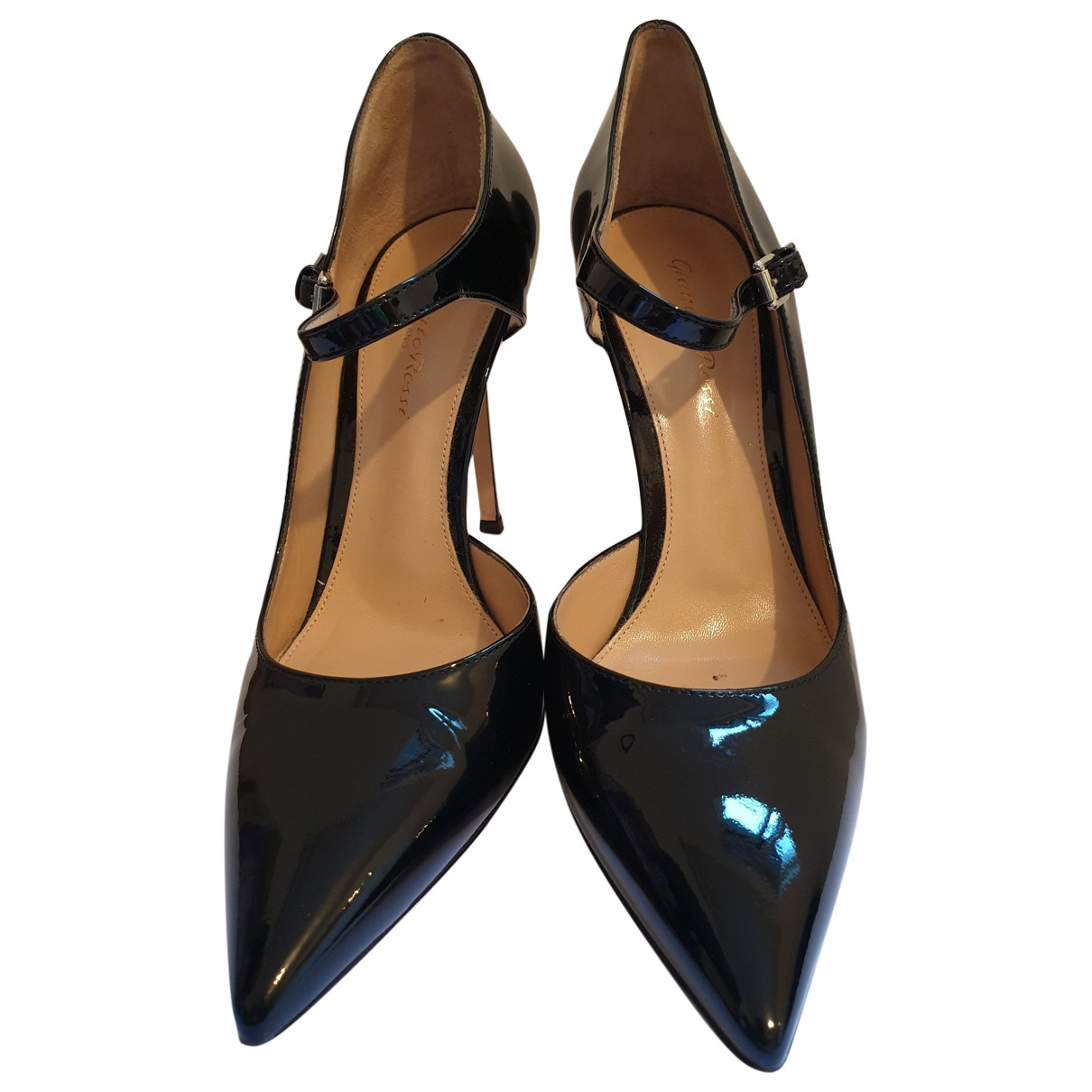 Gianvito Rossi \N Black Patent leather Heels for Women 38 EU