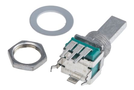 Alps Alpine 1 Gang Rotary Potentiometer with an 6 mm Dia. Shaft - 10kΩ, ±20%, 0.05W Power Rating, Linear, Through Hole