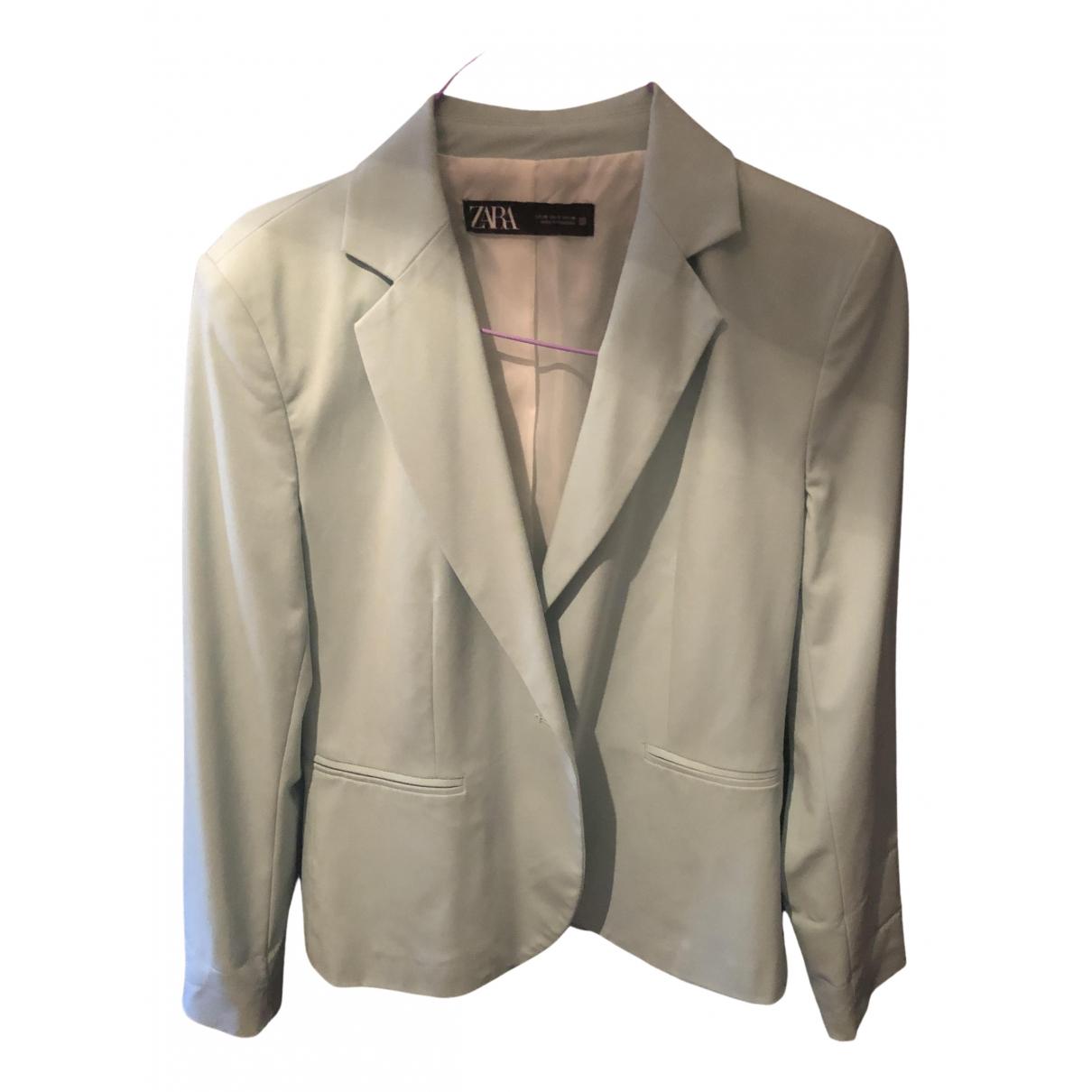 Zara N Blue Cotton jacket for Women M International