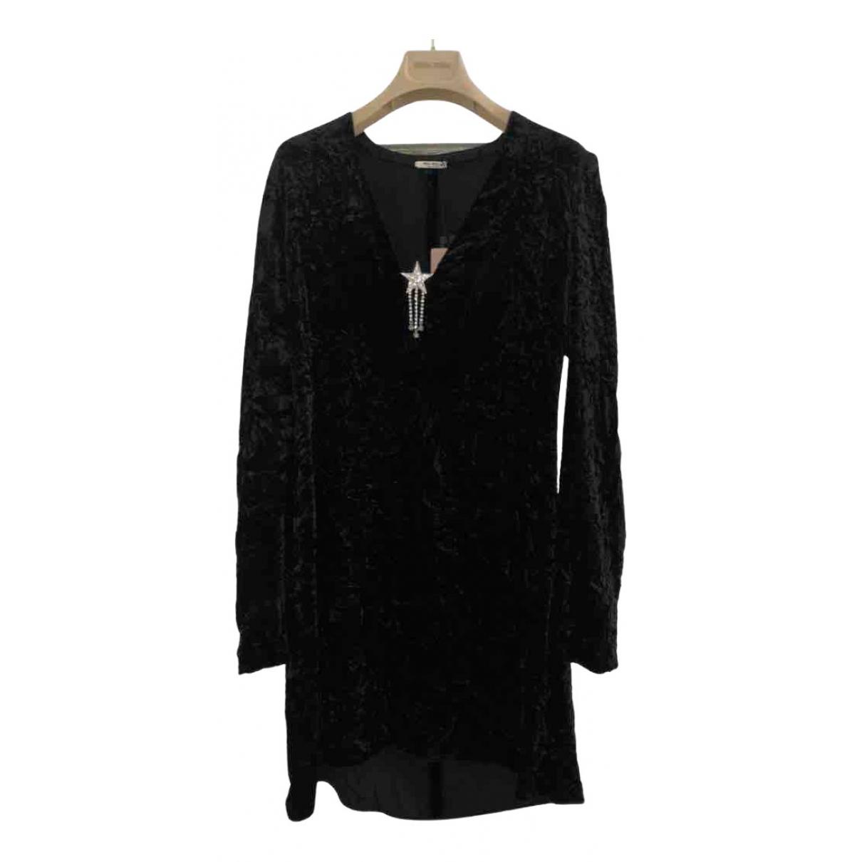 Miu Miu \N Kleid in  Schwarz Samt