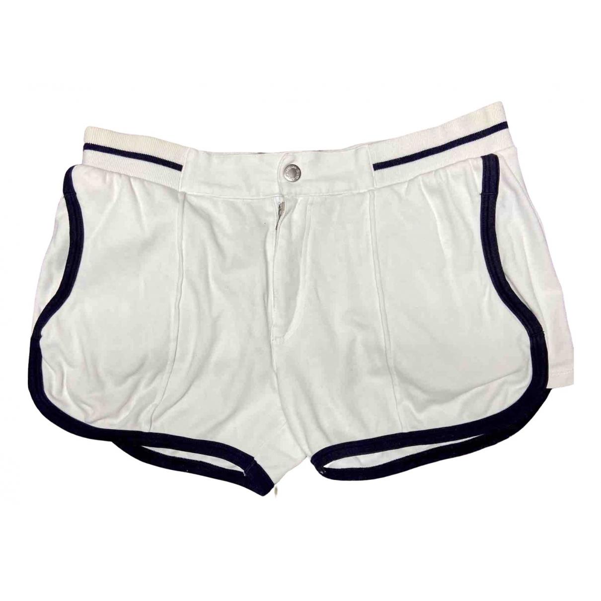 D&g \N White Cotton Shorts for Men M International