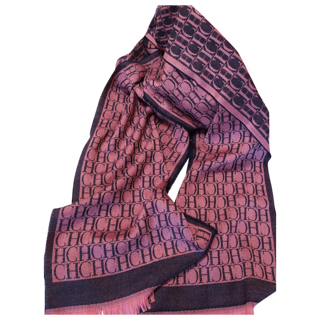 Carolina Herrera - Foulard   pour femme en laine - rose