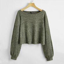 Solid Rib Knit Sweater