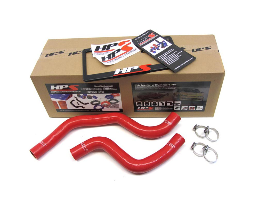 HPS Red Reinforced Silicone Radiator Hose Kit Coolant for Mitsubishi Lancer EVO 7 8
