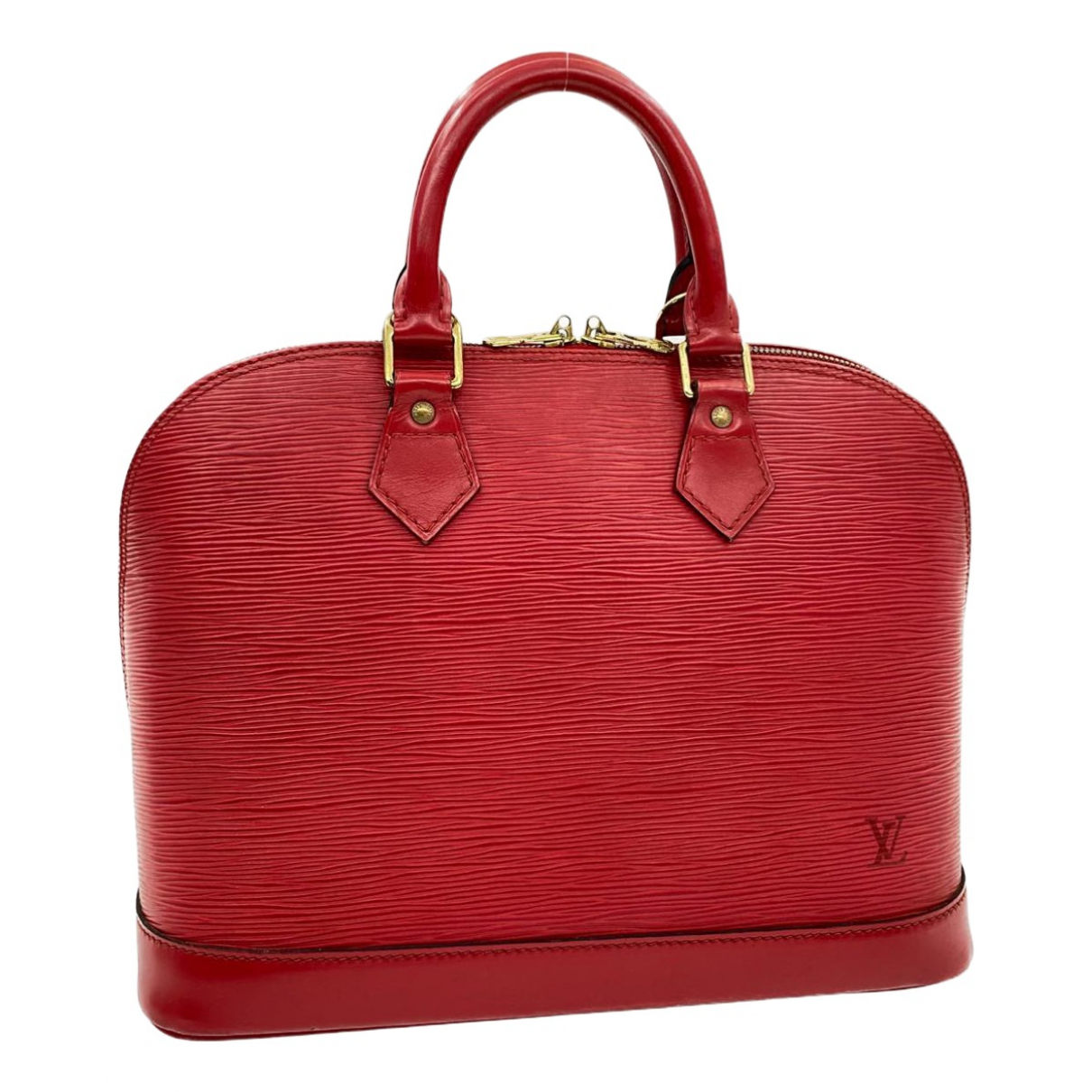 Louis Vuitton Alma Red Leather handbag for Women \N