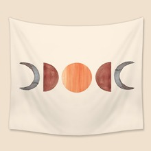 Tapisserie mit Sonne & Mond Muster