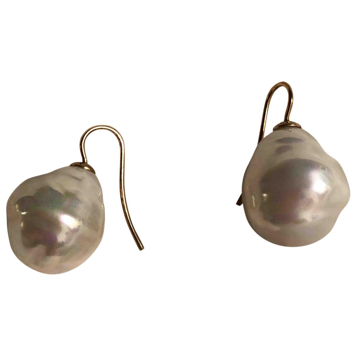 Philippe Ferrandis - Boucles doreilles   pour femme en perle - blanc