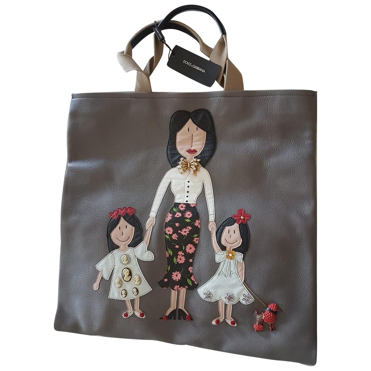 Dolce & Gabbana \N Handtasche in  Anthrazit Leder