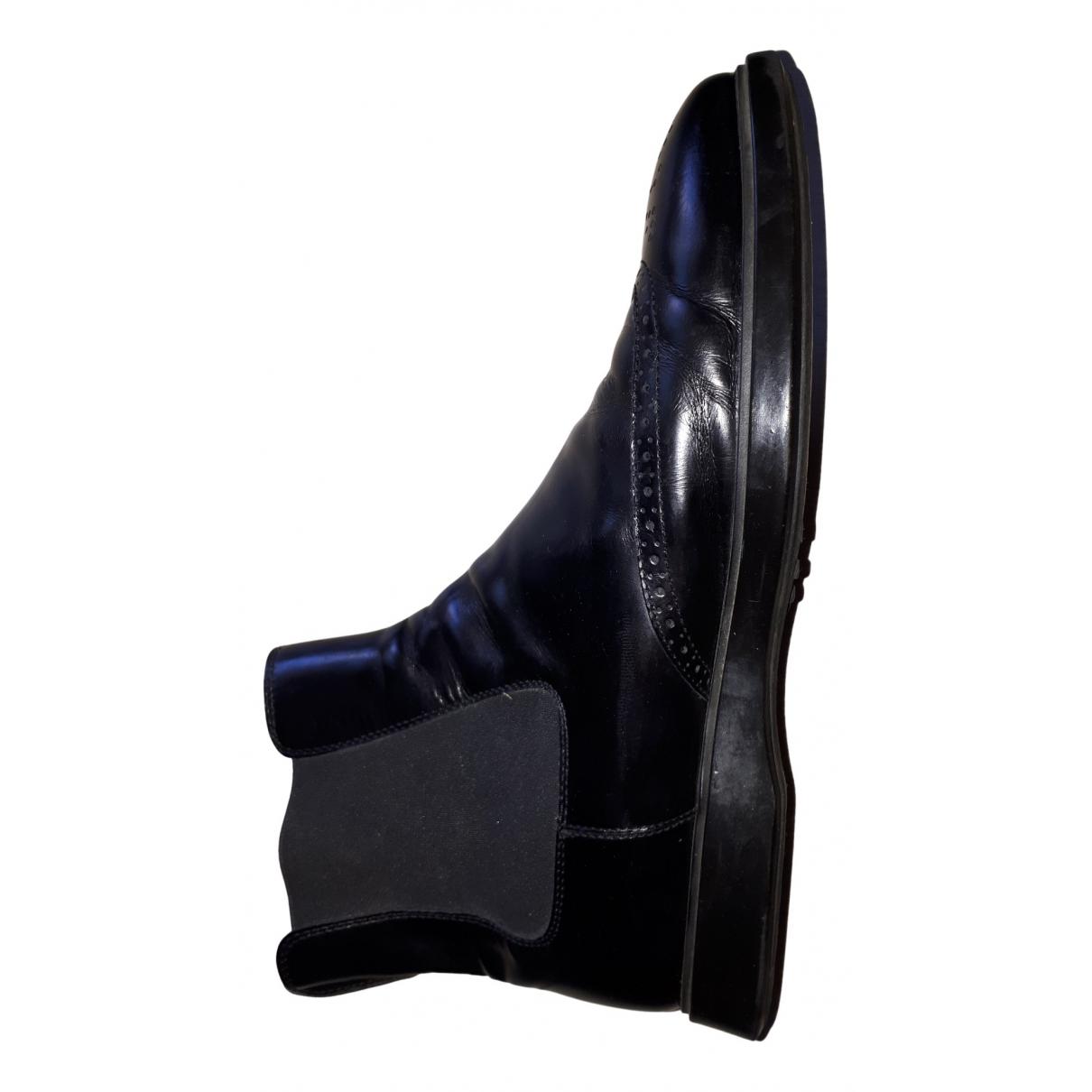 Tods \N Stiefel in  Schwarz Leder