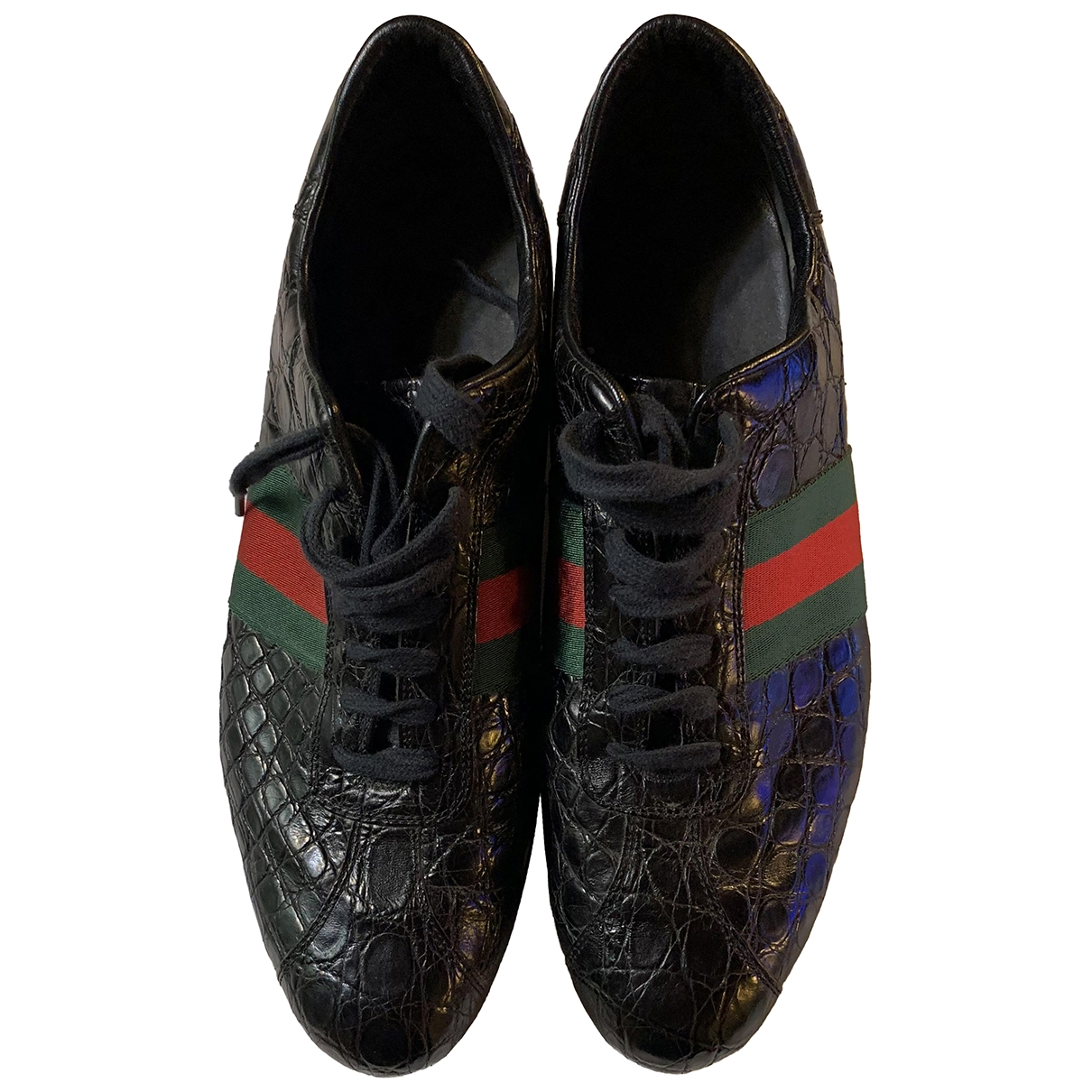 Gucci \N Black Exotic leathers Trainers for Men 10.5 UK