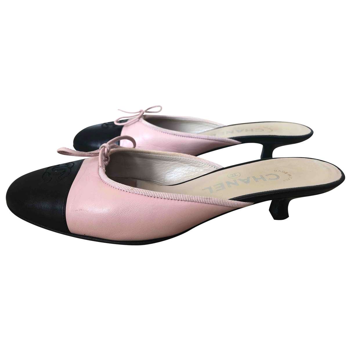 Chanel \N Pink Leather Mules & Clogs for Women 37 EU