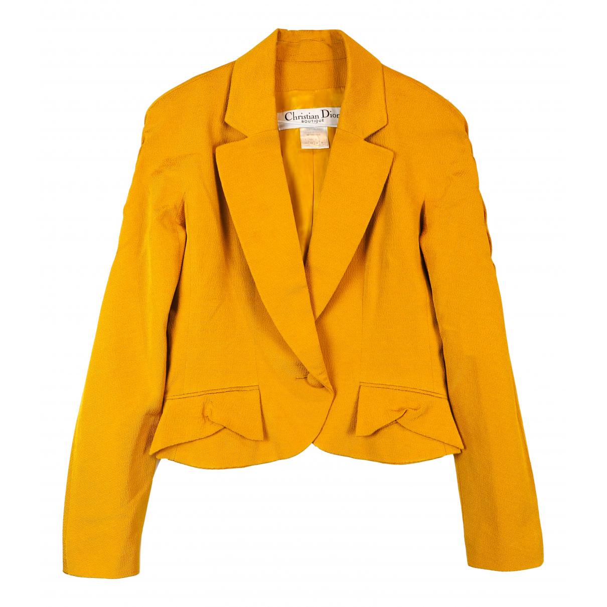 Dior - Veste   pour femme en laine - jaune