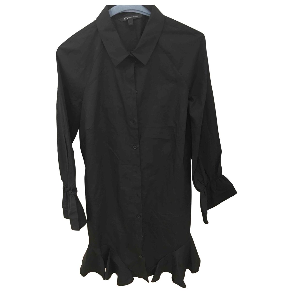Emporio Armani \N Black Cotton dress for Women 4 UK