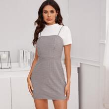 Cami Kleid mit Karo Muster ohne Top