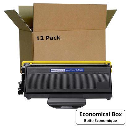 Compatible Brother TN360 Black Toner Cartridge - Economical Box - 12/Pack
