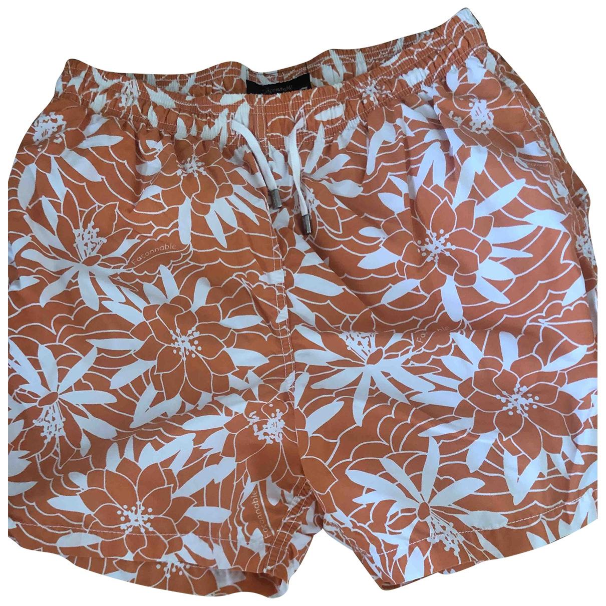 Faconnable \N Badeanzug in  Orange Polyester