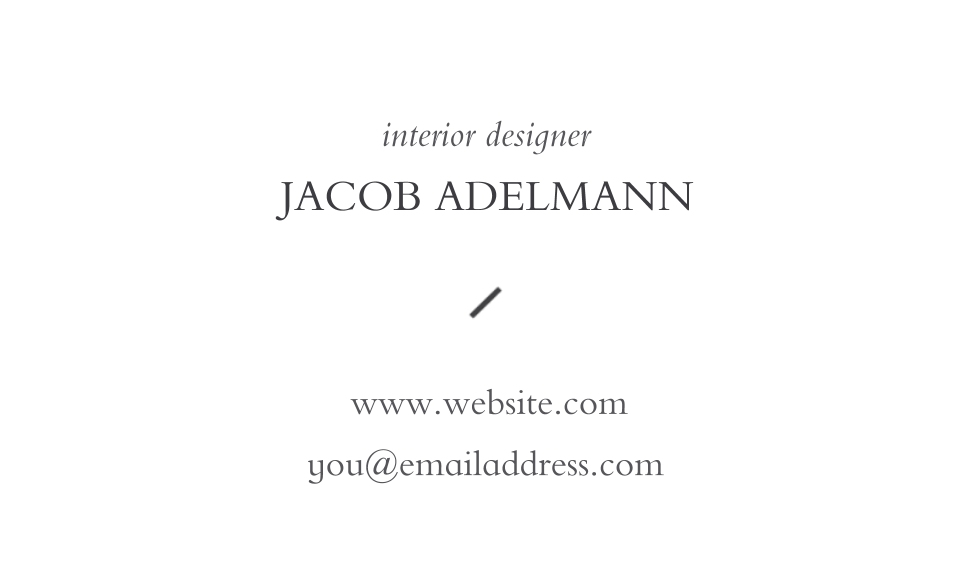 Modern Business Cards, Set of 40, Card & Stationery -Marble