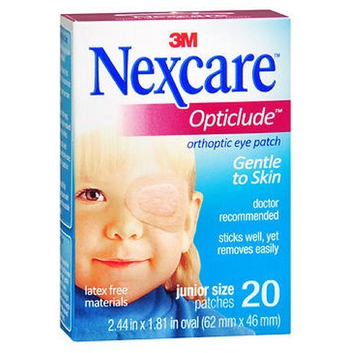 Nexcare Opticlude Orthoptic Eye Patches Junior 20 Units by Nexcare