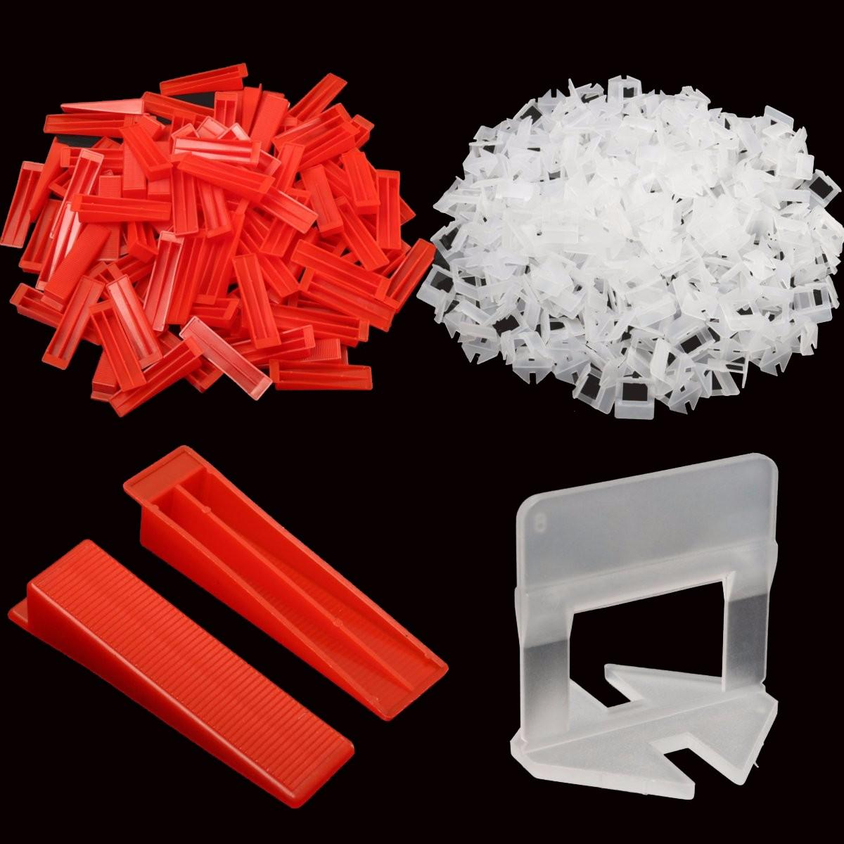 901pcs/set Tile Spacers Tiling Leveling System 700pcs Clips and 200pcs Wedges with 1pc Plier Floor Spacer