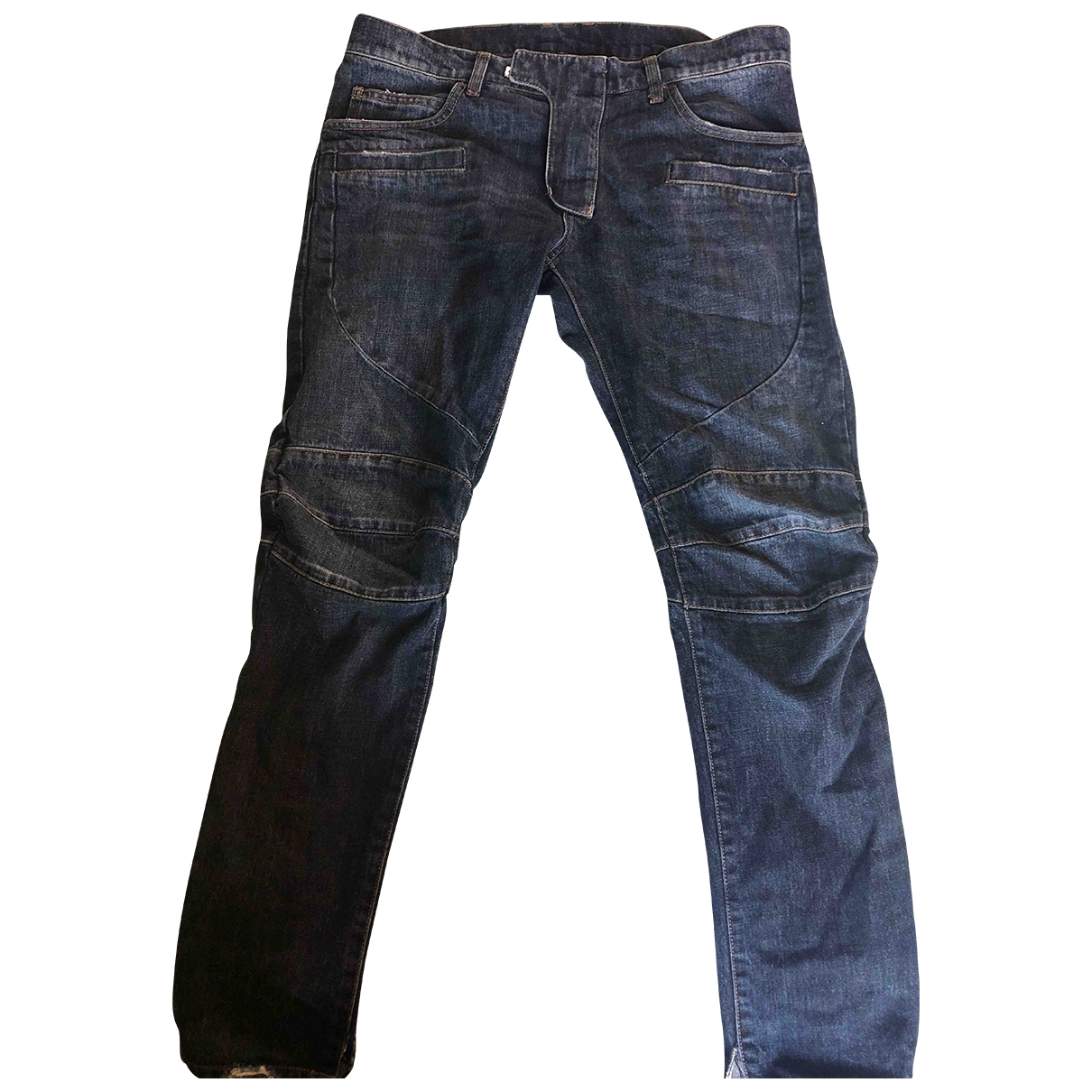 Balmain \N Navy Cotton Jeans for Men 31 US