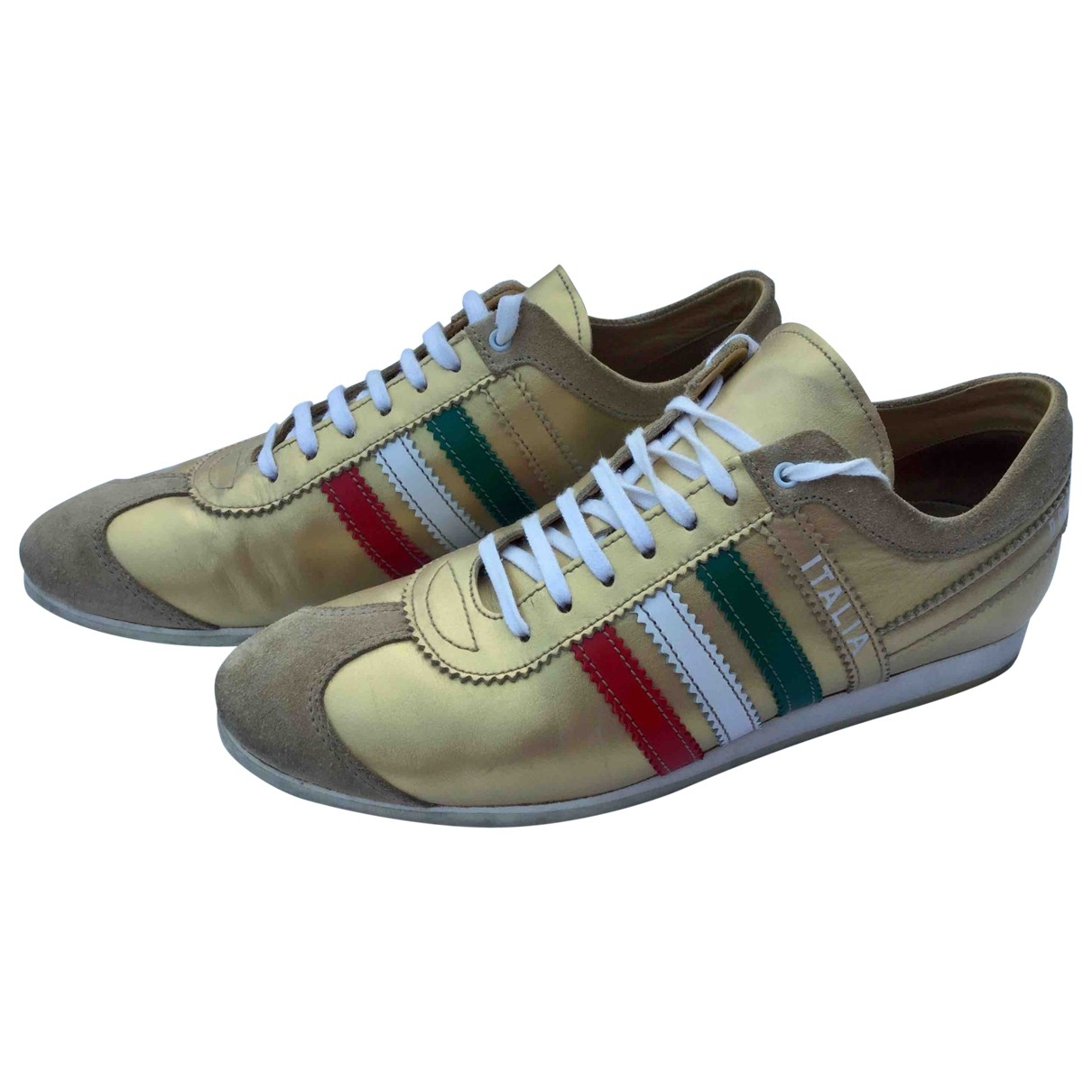 Dolce & Gabbana \N Gold Leather Trainers for Women 39 EU