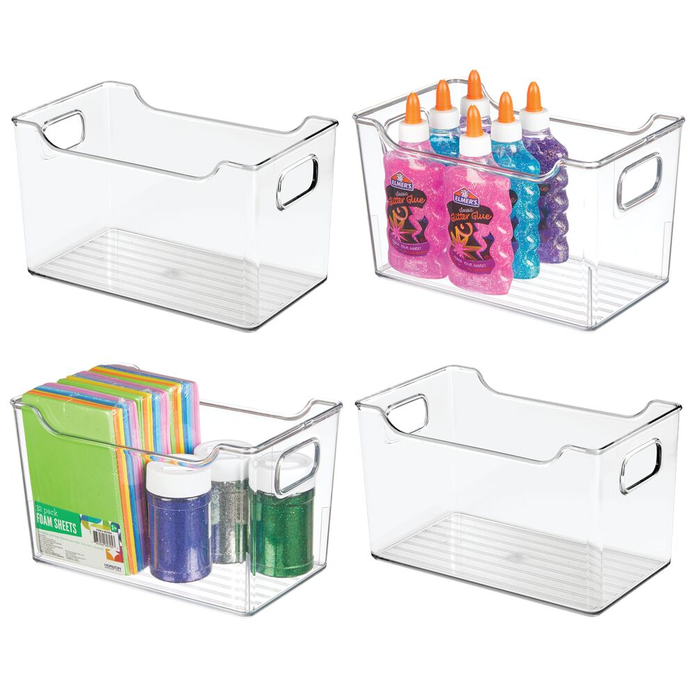mDesign Plastic Storage Bin for Art and Craft Supplies - Set of 4