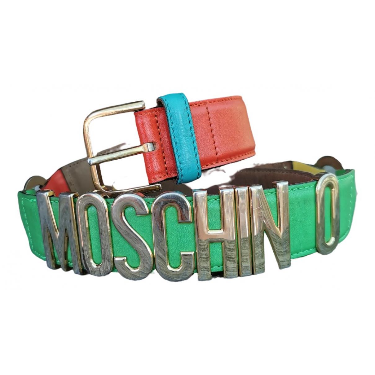 Moschino \N Guertel in  Bunt Leder
