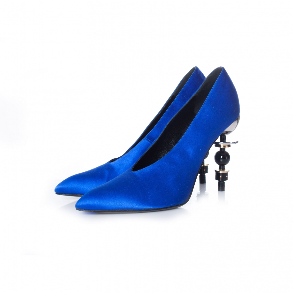 Hermès Tonight Blue Cloth Heels for Women 40 EU