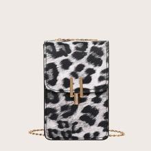 Bolso con cadena de leopardo