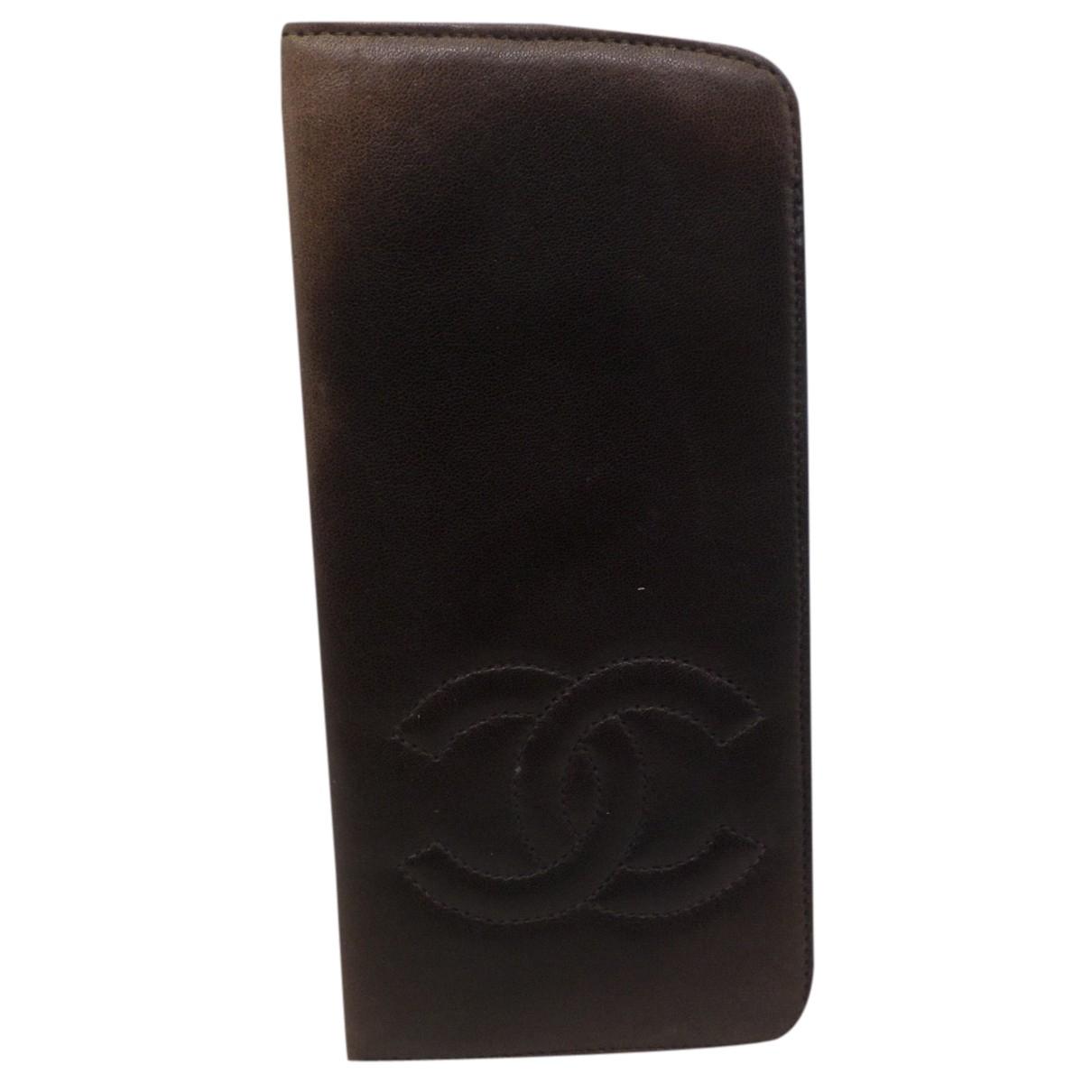Chanel - Petite maroquinerie Timeless/Classique pour femme en cuir - marron