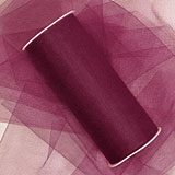 Wine Tulle - 6 X 100 Yards - Fabric Cloth - Width: 6 by Paper Mart