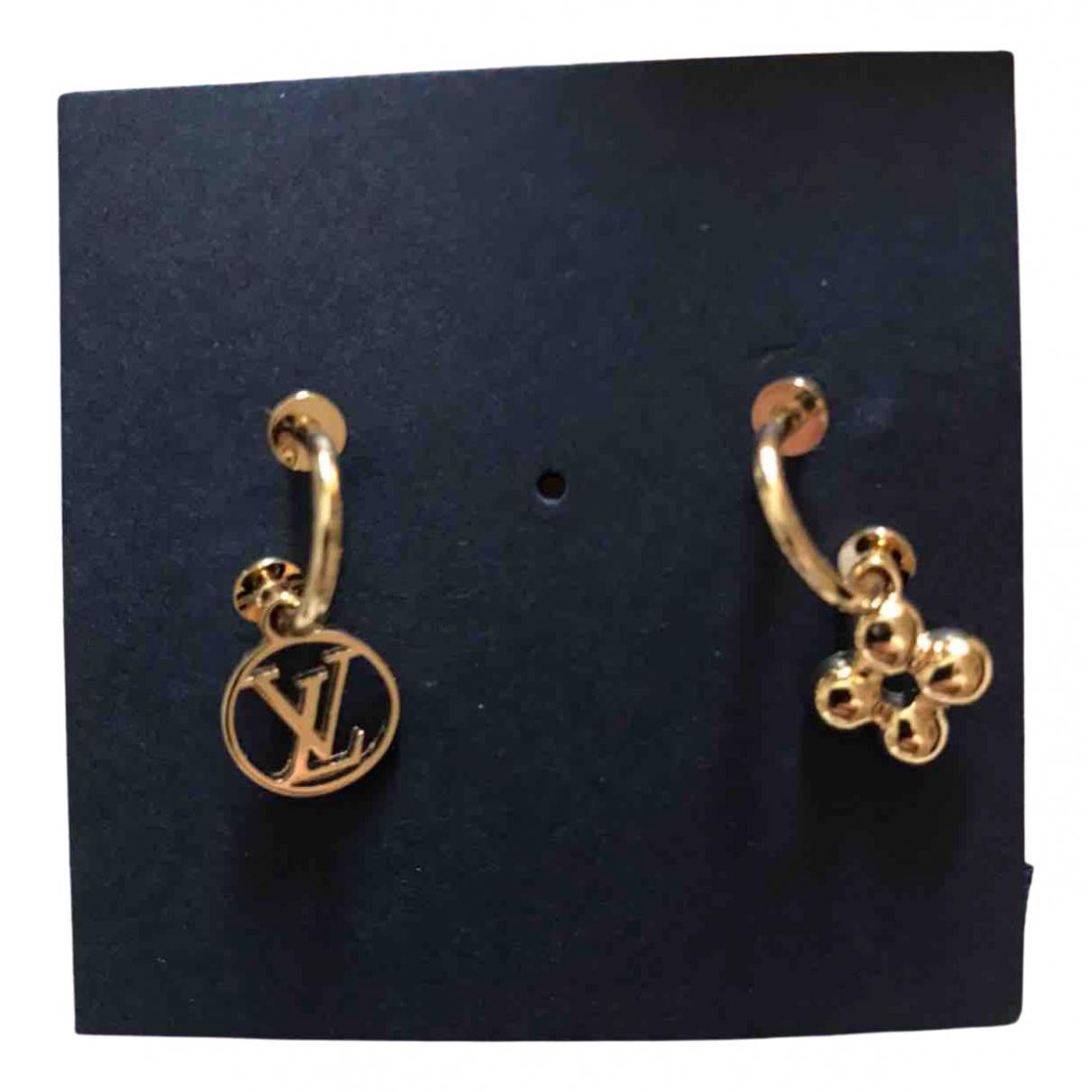 Louis Vuitton Monogram OhrRing in  Gold Metall