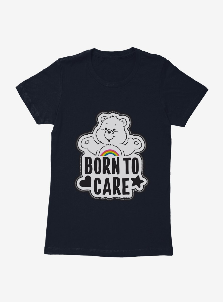 Care Bears Grayscale Cheer Born To Care Womens T-Shirt