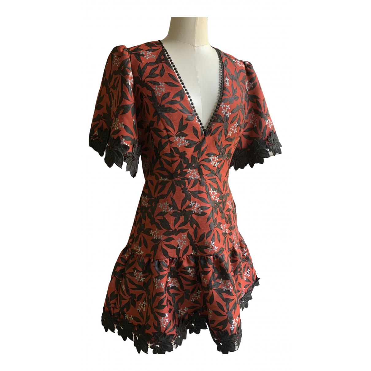 La Maison Talulah \N Kleid in  Rot Baumwolle