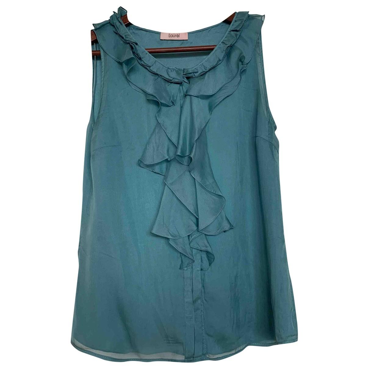 Laurel - Top   pour femme en soie - bleu