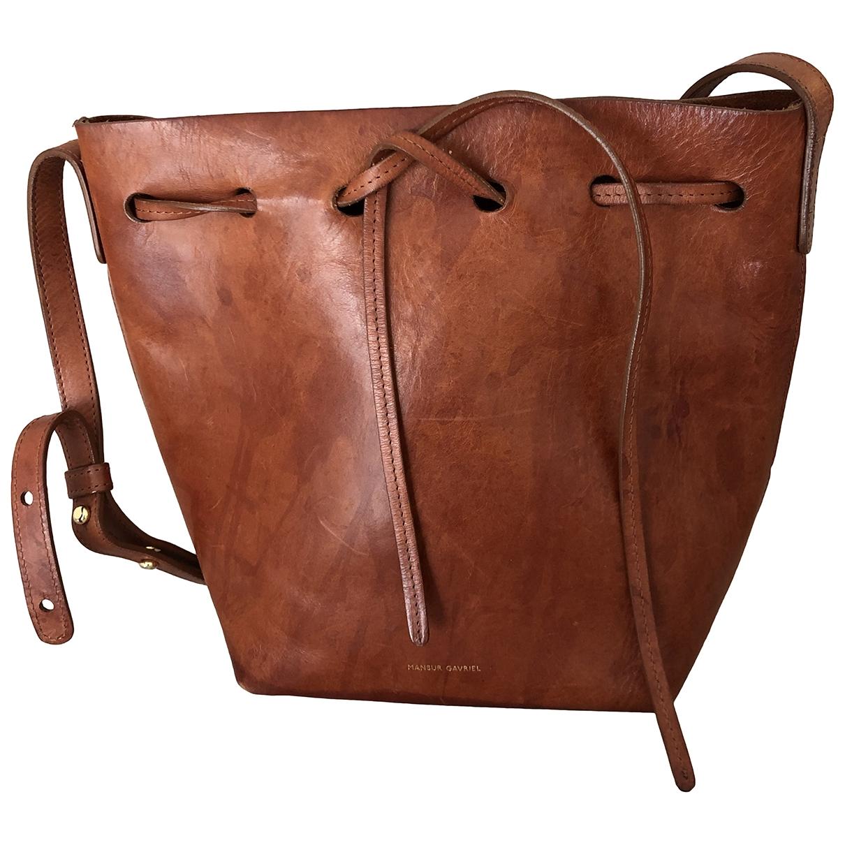 Mansur Gavriel Bucket Brown Leather handbag for Women \N