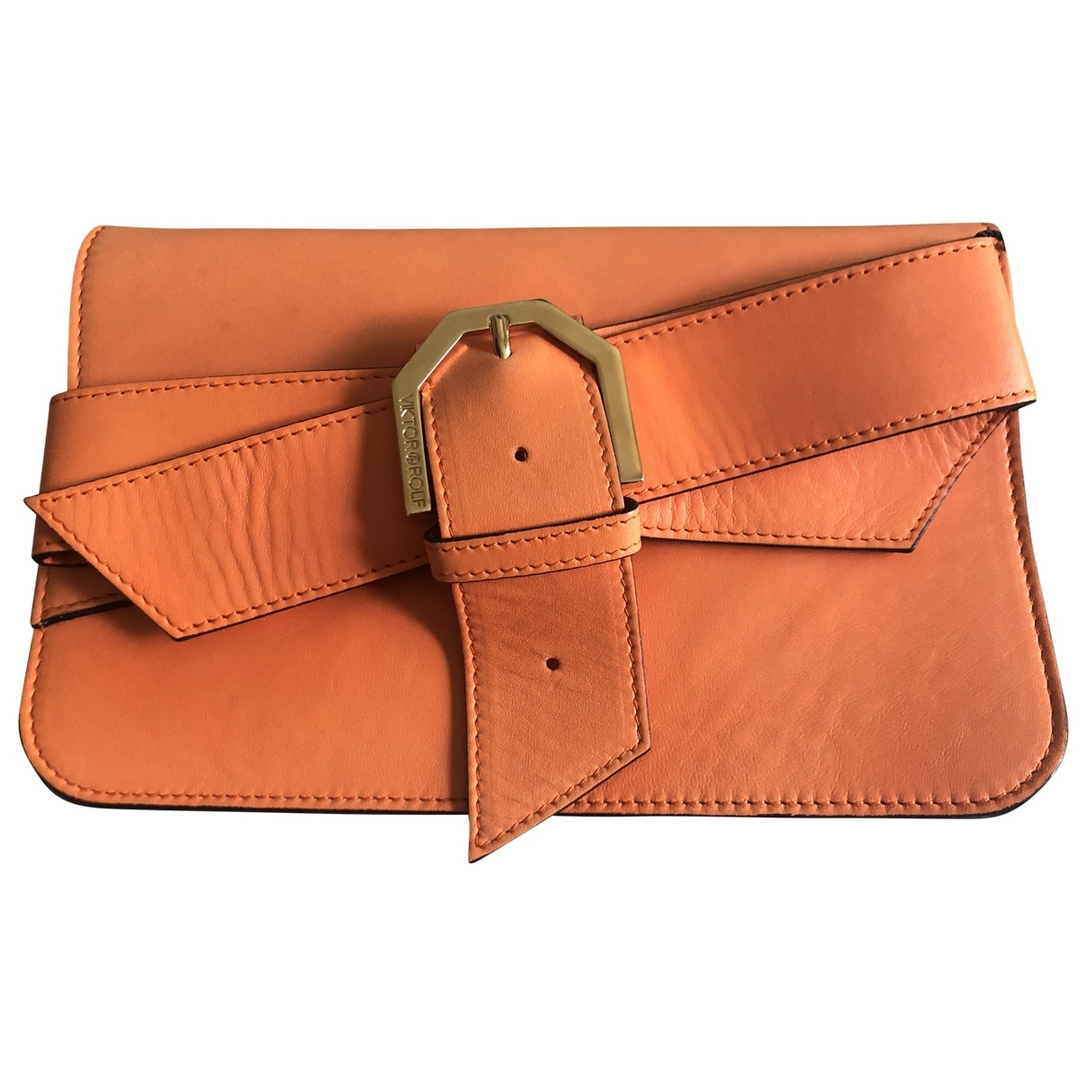 Viktor & Rolf \N Handtasche in  Orange Leder